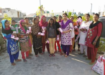 BETIYA FOUNDATION distributed Sanitary Napkins every month